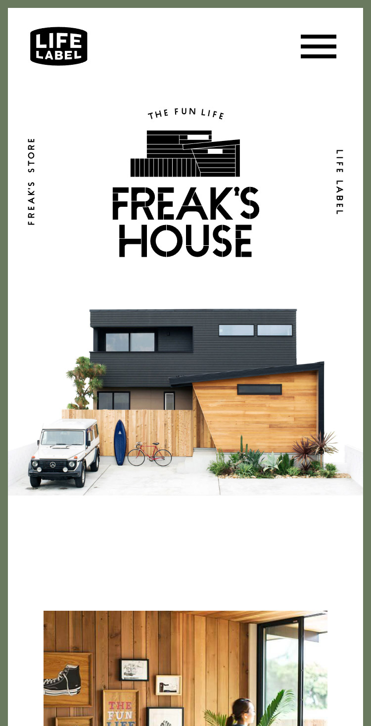FREAK'S HOUSE | LIFE LABEL × フリークスストア