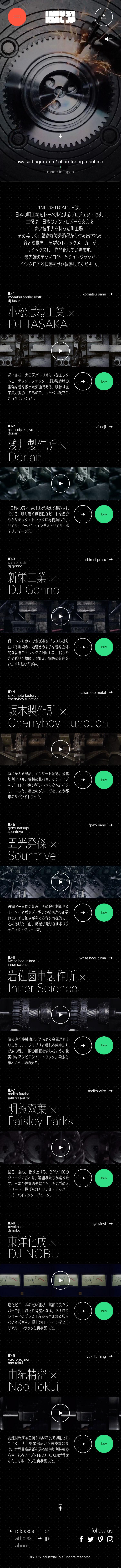 INDUSTRIAL JP / 工場音楽レーベル