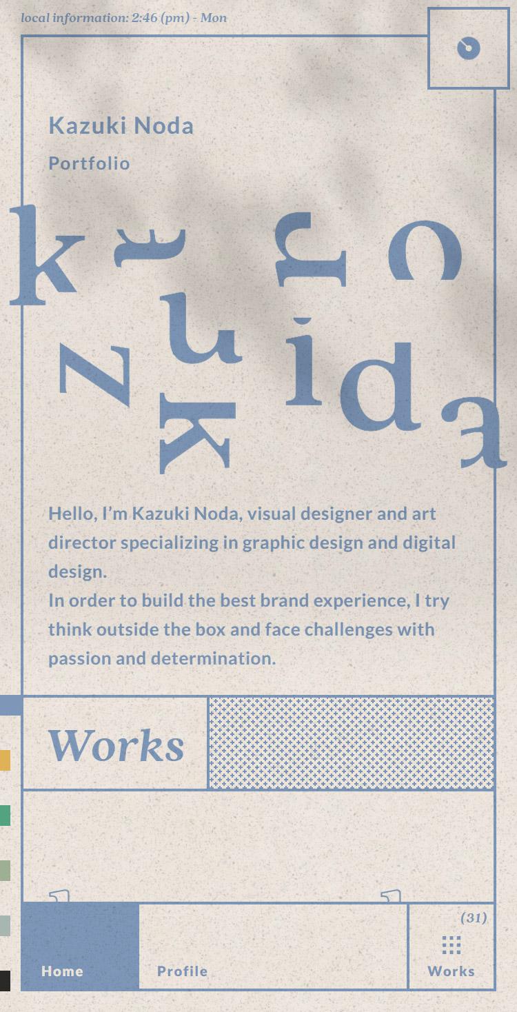 Kazuki Noda Portfolio