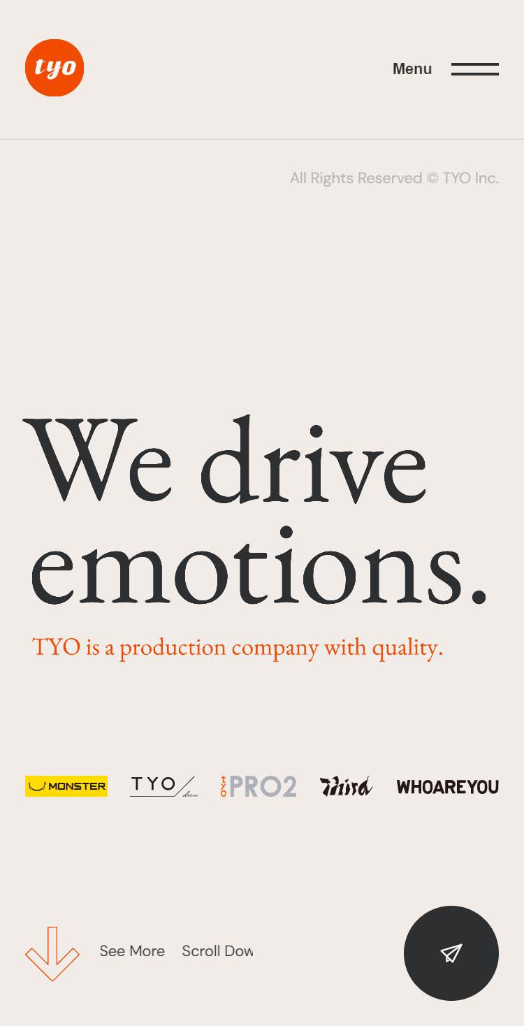 TYO - We drive emotions.