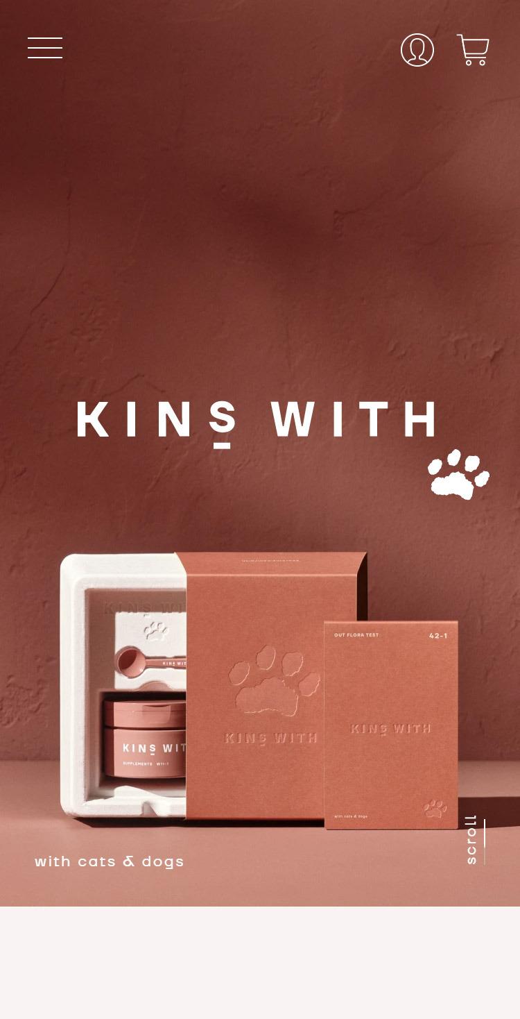 KINS WITH | 愛犬愛猫にも菌ケアを。