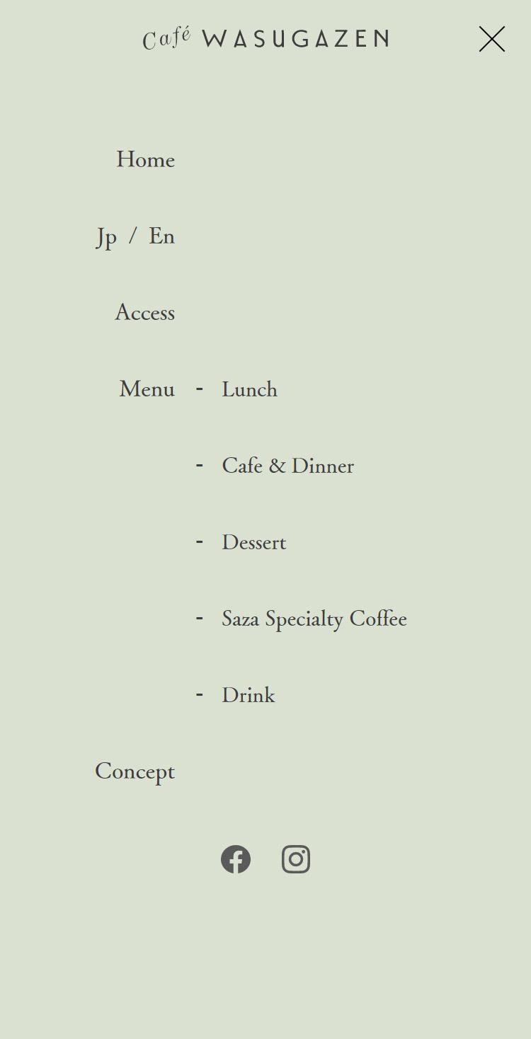 こだわりのカラダに優しいカフェ&ダイニング | Café WASUGAZEN メニュー