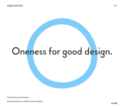 アクアリング – Oneness for good design.