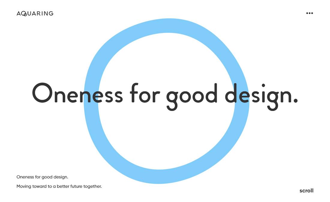 アクアリング - Oneness for good design.