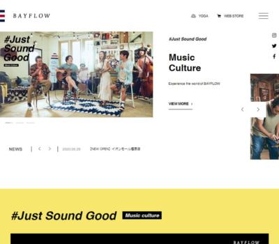 BAYFLOW オフィシャルブランドサイト