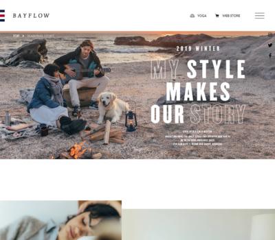 SEASONAL STORY | BAYFLOW オフィシャルブランドサイト