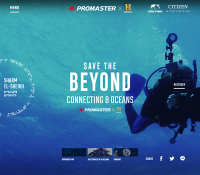 Save the BEYOND – Connecting 8 Oceans | PROMASTER キャンペーンサイト