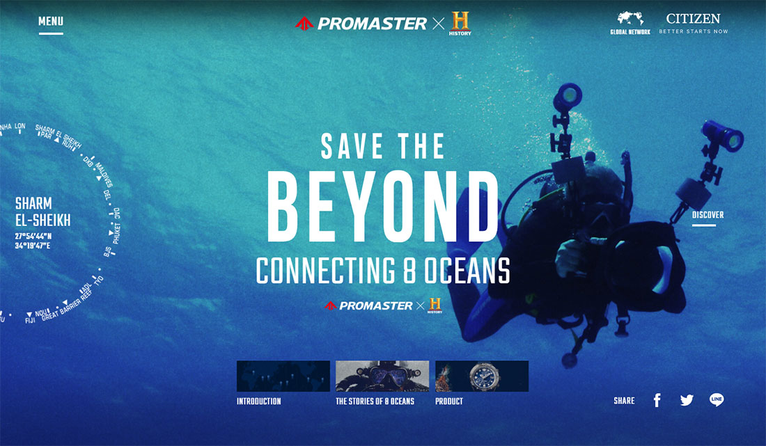 Save the BEYOND - Connecting 8 Oceans | PROMASTER キャンペーンサイト [シチズン腕時計]