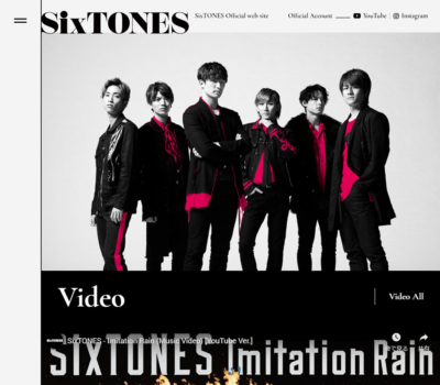 SixTONES Official web site