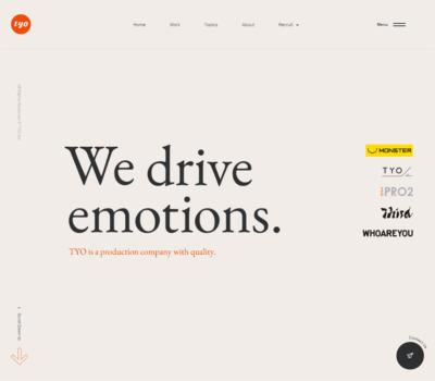 TYO – We drive emotions.