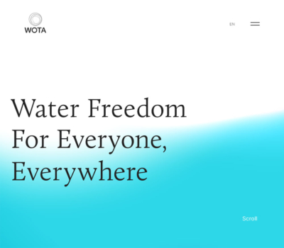 WOTA | Water Freedom for Everyone,Everywhere