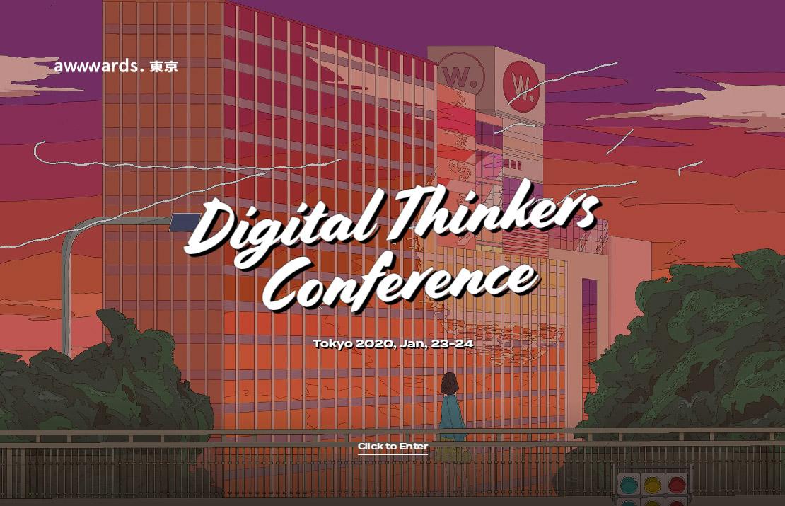 Web Design Conference Tokyo - Digital Thinkers - UX / UI Event - Awwwards