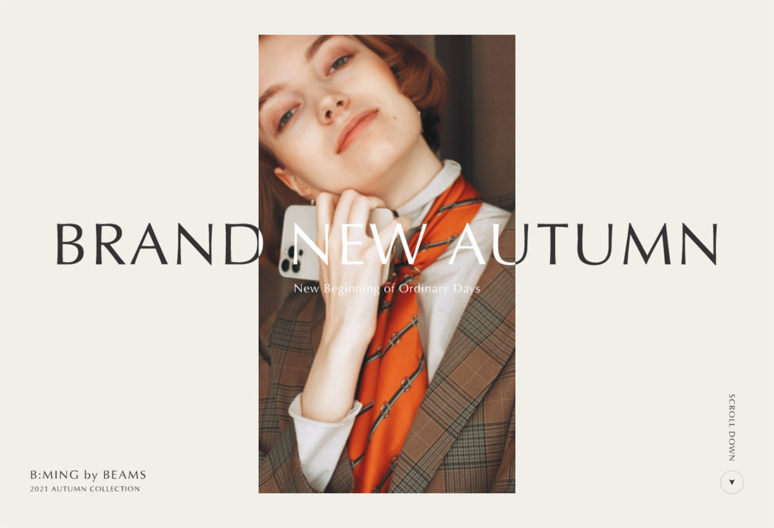 BRAND NEW AUTUMN   B:MING by BEAMS 2021 AUTUMN COLLECTION
