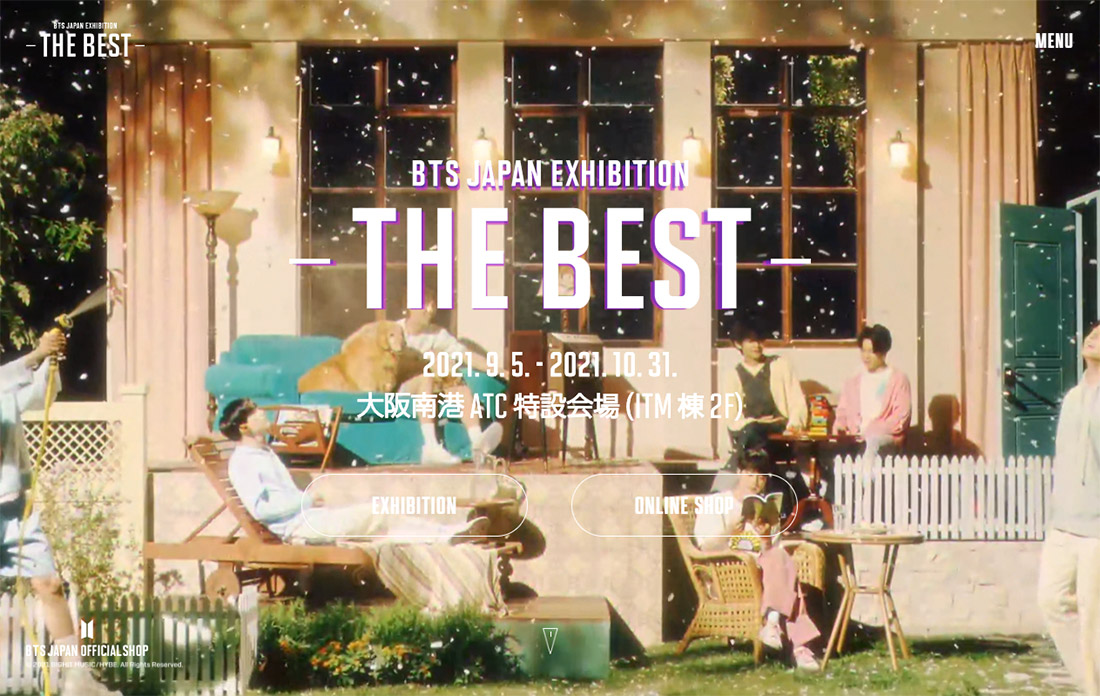 BTS JAPAN EXHIBITION -THE BEST- Special Site