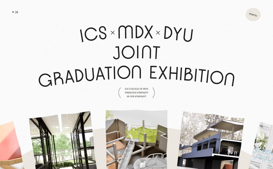 ICS×MDX×DYU JOINT GRADUATION EXHIBITION
